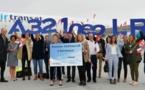 Air Transat : l'A321neoLR se pose à Bordeaux