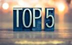 Top 5 de la semaine : des turbulences en vue !