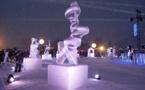 Valloire : féerie glaciale pour le concours de sculptures sur glace (diaporama)