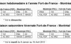 Air Canada ajoute une rotation entre Fort-de-France et Montréal pour l'Hiver 2013