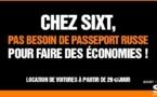 Sixt utilise l'exil russe de Depardieu dans une nouvelle campagne de communication