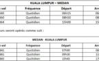 Malaysia Airlines : 3e vol quotidien entre Kuala Lumpur et Medan dès le 15 septembre 2013