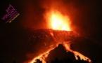 Depuis le 19 septembre 2019, le volcan Cumbre Vieja est en entré en éruption au sud de l'île espagnole de La Palma, dans l'archipel des Canaries. Photo prise par l'Institut de volcanologie des îles Canaries, (Involcan), le 17 octobre 2021. – DR Involcan
