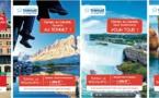 Vacances Transat : campagne d'affichage avec la Commission canadienne du tourisme