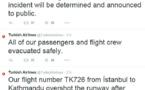 Népal : un avion de Turkish Airlines rate son atterrissage à Katmandou