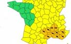 Orages et Pluie : 10 départements du Sud-Est en alerte orange