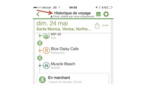 """TripAdvisor propose une fonction """"Historique de voyage"""" sur son appli mobile"""