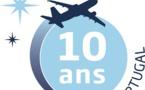 Aigle Azur : logo spécial pour les 10 ans d'opérations au Portugal