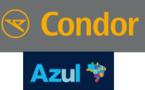 Brésil : Condor et Azul Brazilian Airlines deviennent partenaires