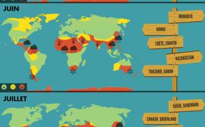 Infographie : où et quand partir pour éviter des vacances pluvieuses ?