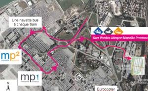 Marseille-Provence : nouvelle gare ferroviaire Vitrolles Aéroport en décembre
