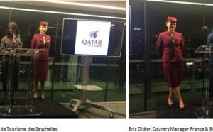 Qatar Airways fête le vol Paris - Seychelles via Doha à la maison de la radio