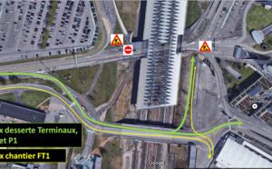 Lyon-Saint Exupéry : changement des voies d'accès pendant les travaux du futur Terminal 1