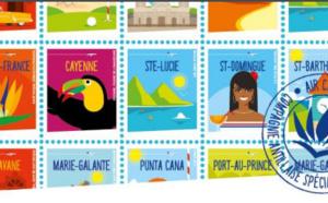 Air Caraïbes : campagne de communication avec les destinations sous forme de timbres