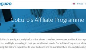 GoEuro : nouveau programme d'affiliation pour les professionnels du tourisme
