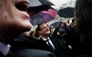 François Hollande en visite à Disneyland Paris samedi 25 février 2017