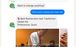 TripAdvisor lance son chatbot sur Facebook Messenger