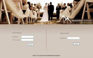 Argentina Excepción : plate-forme en ligne pour les futurs mariés
