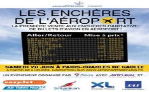 ADP lance une vente aux enchères de billet d'avions