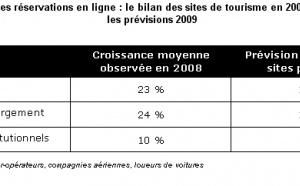 E-Tourisme : croissance divisée par deux en 2009 par rapport à 2008