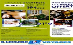 E.Leclerc Voyages : 1 coffret cadeau offert pour 2 achetés avec Smartbox