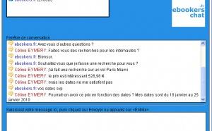 ebookers.fr lance le ''chat en ligne'' pour contacter les conseillers voyages