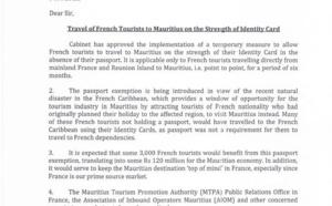L'Île Maurice ouvre ses portes aux Français avec une simple carte d'identité