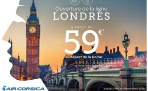 Air Corsica ouvre Londres Stansted au départ de Corse