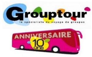 GROUPTOUR organise un jeu-concours destiné aux professionnels du tourisme pour fêter ses 10 ans