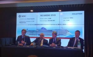 Deux nouveaux bateaux Seaside Evo pour MSC Croisières