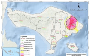 Bali : peu de tour-opérateurs touchés par l'éruption du Mt. Agung