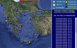 Grèce, attention à l'activité sismique