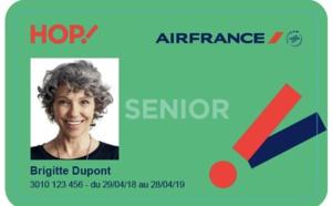 HOP! Air France lance une nouvelle carte Senior