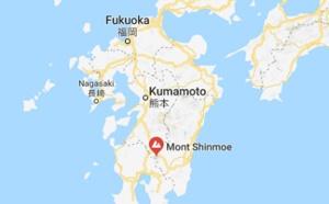 Japon : éruption du volcan Shinmoe (Kyushu)