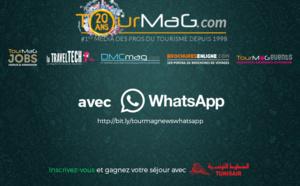 Nouveau : TourMaG.com lance sa newsletter aussi sur WhatsApp !