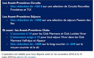 Circuits : TUI lance ses « Avant-Premières »