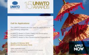 Innovation et durabilité : ouverture des candidatures pour les awards de l'OMT