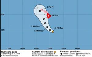 """Hawai placée en """"alerte ouragan"""""""
