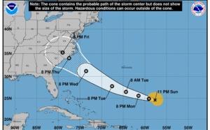 """USA : Florence classée en """"ouragan majeur"""" va toucher la côte Est"""