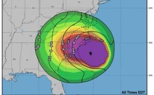 USA : l'ouragan Florence a été rétrogradé, mais reste dangereux