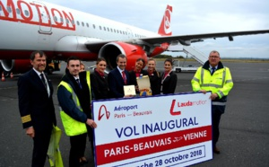 Aéroport de Beauvais : Laudamotion inaugure son vol vers Vienne