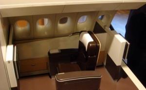 ITB : Lufthansa tient salon avec un vrai lit... et un fauteuil pour les B-747 !