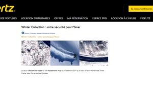Hertz France propose à ses clients des offres spéciales pour l'hiver