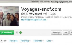 Voyages-sncf.com : le service relation clients sur Twitter