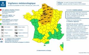 Météo France : 24 départements en vigilance neige et verglas