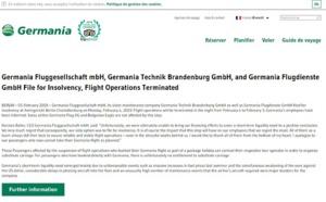 Low cost : Germania met fin à ses activités