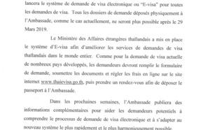 Thaïlande : l'ambassade parisienne se prépare au e-Visa