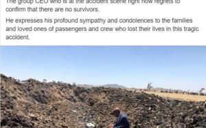 Addis Abeba : un avion d'Ethiopian Airlines s'écrase ce dimanche, 7 Français parmi les victimes (réactualisé à 14h)