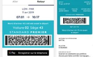Eurostar : achat et ajout du e-billet sur Google Pay