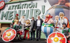 Parc Astérix : une inauguration très people pour l'attraction Attention Menhir !